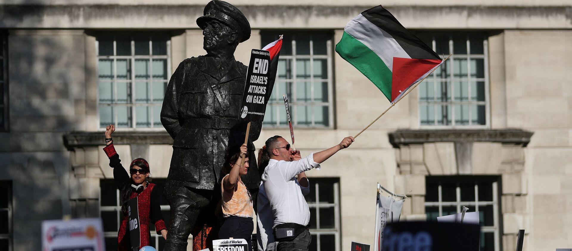 Protest podrške Palestini u Londonu. - Sputnik Srbija, 1920
