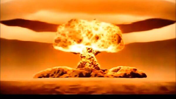Rekonstrukcija eksplozije najjače bombe na svetu, car bombe - Sputnik Srbija