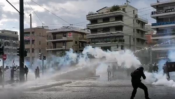 Немири у Атини на скупу подршке Палестини - Sputnik Србија