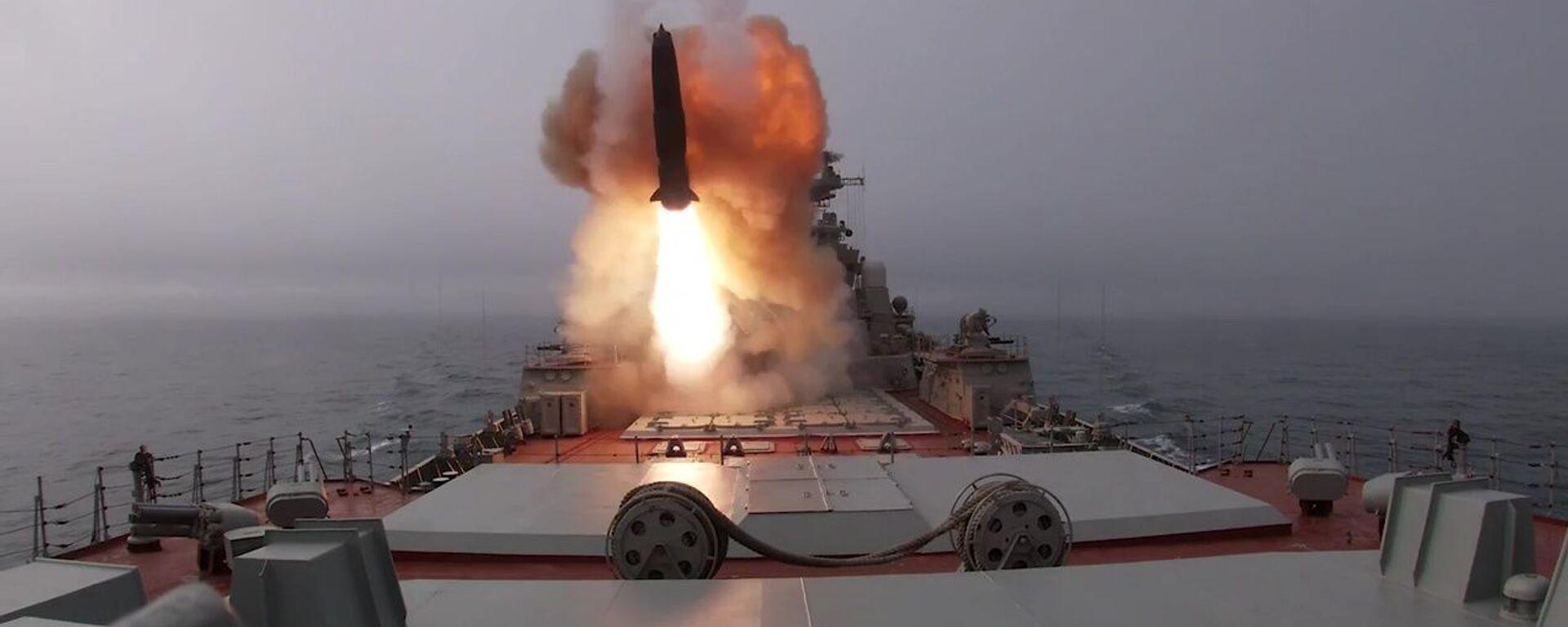 """Противбродске ракете """"Гранит"""" и """"Вулкан"""" коришћене на вежбама Северне флоте - Sputnik Србија, 1920, 16.05.2021"""