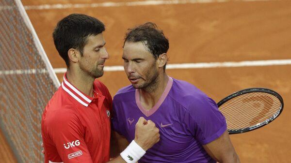 Novak Đoković i Rafael Nadal - Sputnik Srbija