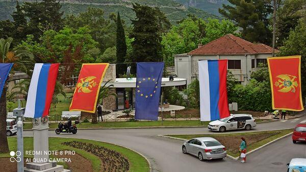 Zastave u Budvi - Sputnik Srbija