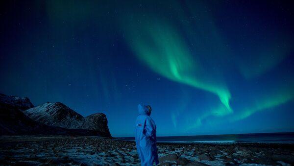 Polarna svetlost na severu Norveške. - Sputnik Srbija