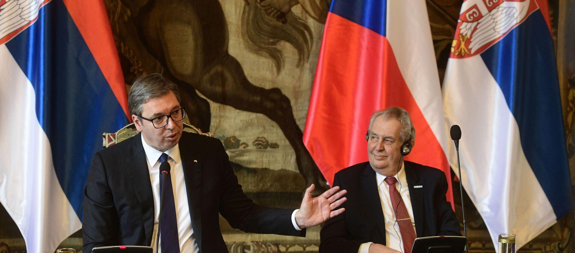 Aleksandar Vučić i Miloš Zeman - Sputnik Srbija, 1920, 19.05.2021