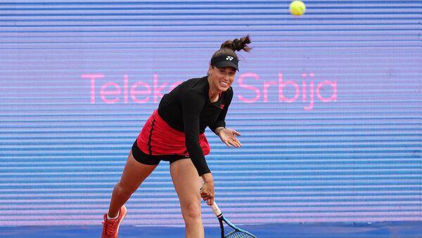 Srpska teniserka Ivana Jorović tokom turnira u Beogradu - Sputnik Srbija