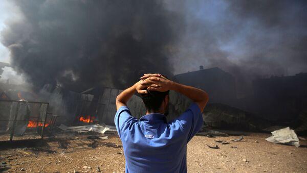 Фабрика коју је бомбардовао Израел у Појасу Газе - Sputnik Србија