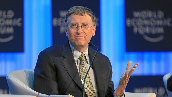 Милијардер и оснивач Мајкрософта Бил Гејтс на Светском економском форуму 2013. године - Sputnik Србија