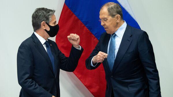 Američki državni sekretar Entoni Blinken i ministar spoljnih poslova Rusije Sergej Lavrov - Sputnik Srbija