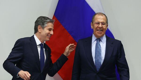 Сергеј Лавров и Ентони Блинкен на састанку у Рејкјавику - Sputnik Србија
