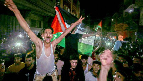 Slavlje Palestinaca u Gazi povodom postignutog primirja - Sputnik Srbija