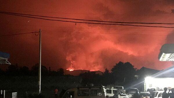 Erupcija vulkana Nijaragongo u Republici Kongo.  - Sputnik Srbija