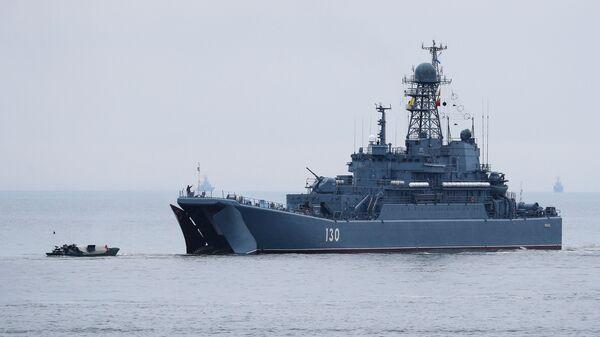 Велики десантни брод Корољов Балтичке флоте Русије - Sputnik Србија
