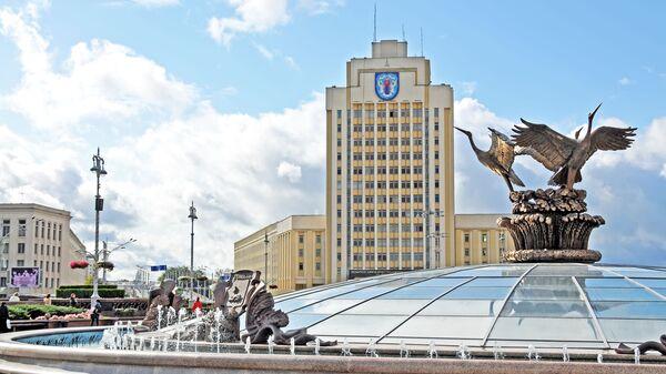 Площадь Независимости в Минске, Белоруссия - Sputnik Србија