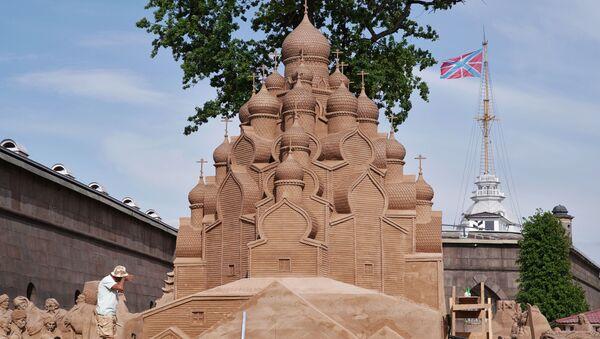 Festival skulptura u pesku u Sankt Peterburgu - Sputnik Srbija