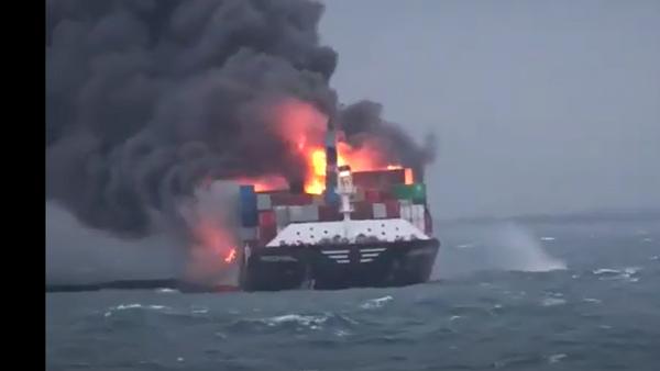 Eksplozija na brodu, Kolombo - Sputnik Srbija