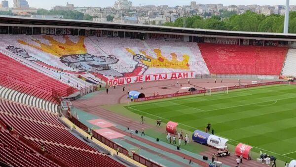 Koreografija navijača Crvene zvezde pred finale Kupa - Sputnik Srbija