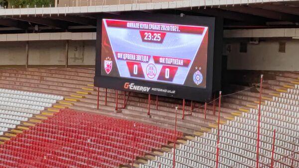 Semafor na stadionu Rajko Mitić u finalu Kupa između FK Crvena zvezda i FK Partizan - Sputnik Srbija
