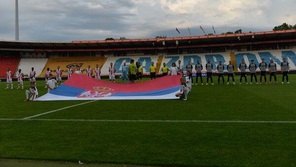 Fudbaleri Zvezde i Partizana pred početak finala Kupa Srbije - Sputnik Srbija