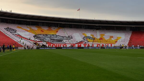 Prazne tribine stadiona Rajko Mitić tokom finala Kupa Srbije - Sputnik Srbija