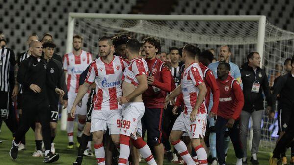 Haos na derbiju FK Crvena zvezda i FK Partizan - Sputnik Srbija
