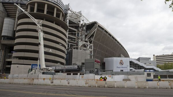 Поглед на Сантјаго Бернабеу, стадион фудбалера Реал Мадрида - Sputnik Србија