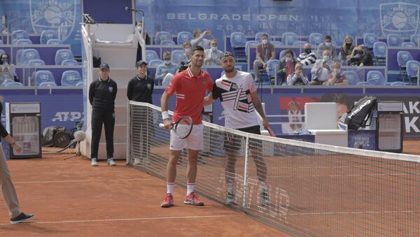 Novak Đoković i Andrej Martin u polufinalu Beograd opena - Sputnik Srbija