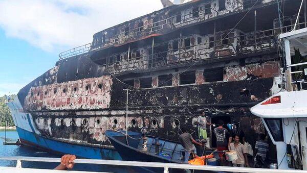 Пожар на трајекту у Индонезији - Sputnik Србија
