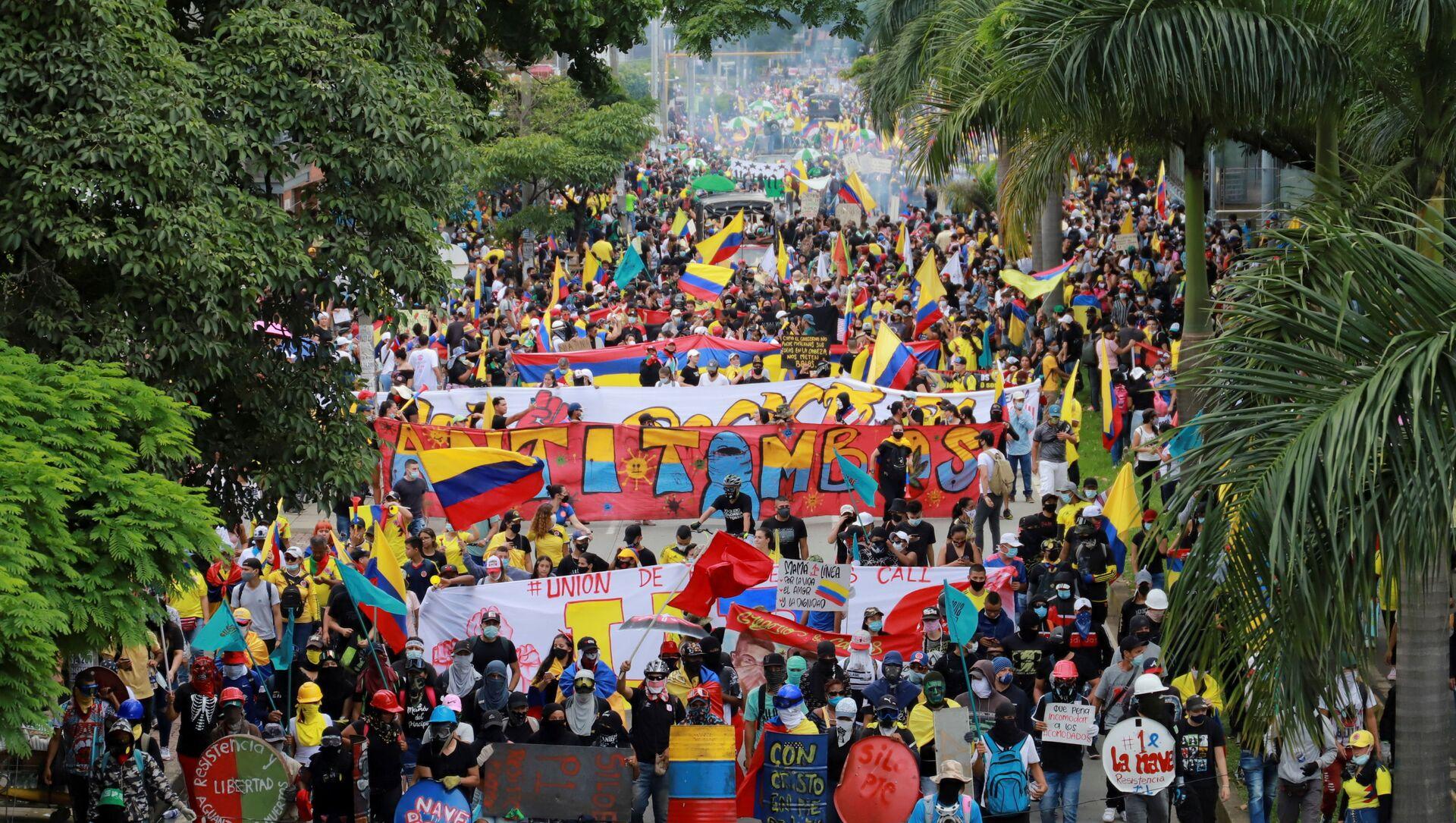 Protest u Kaliju, u Kolumbiji - Sputnik Srbija, 1920, 30.05.2021