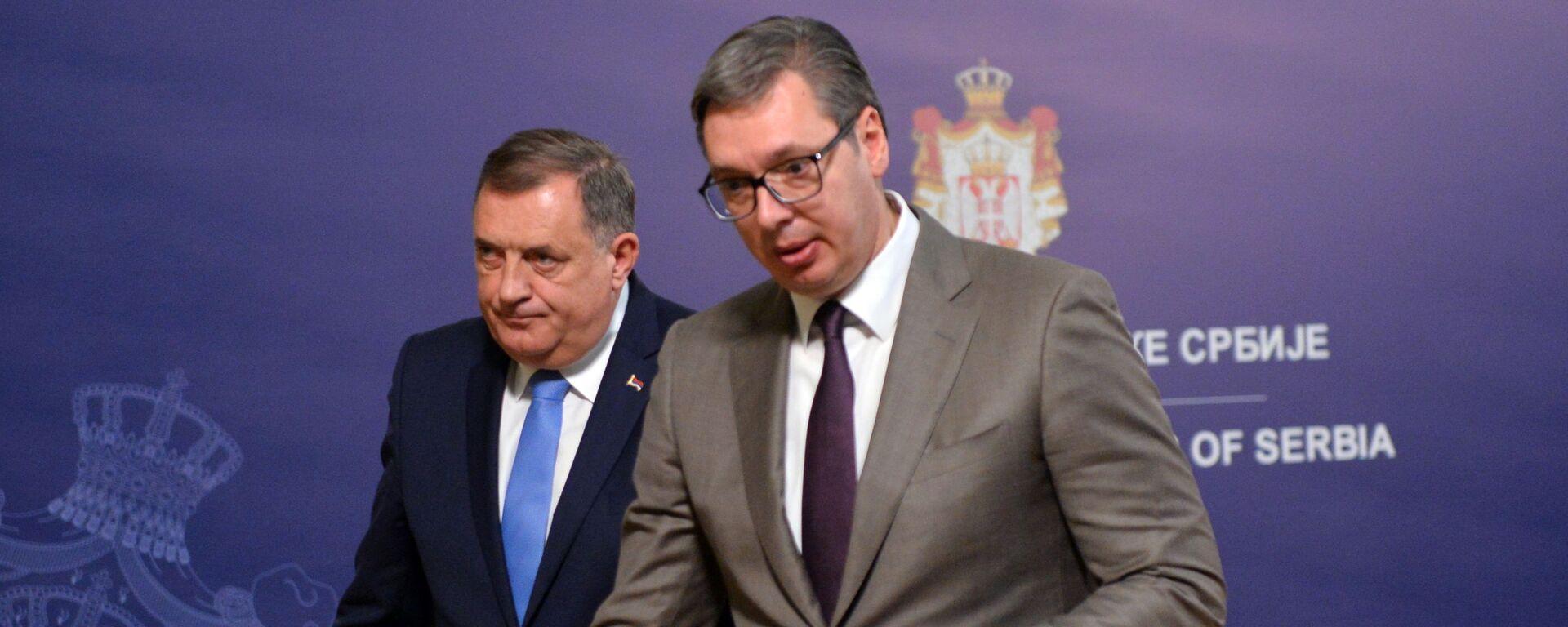 Aleksandar Vučić i Milorad Dodik - Sputnik Srbija, 1920, 26.08.2021