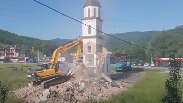 Рушење православне цркве код Сребренице - Sputnik Србија