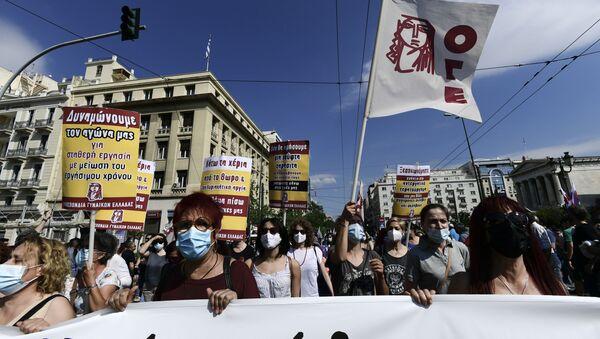 Штрајк у Атини - Sputnik Србија