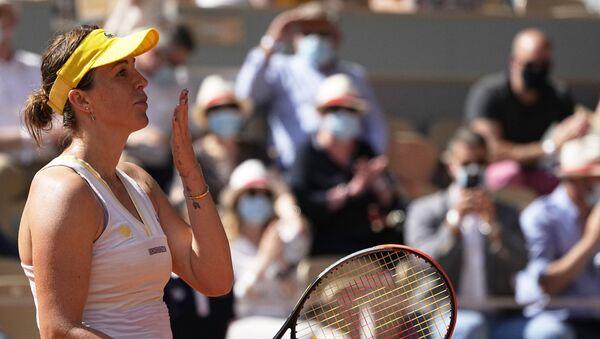 Ruska teniserka Anastasja Pavljučenkova proslavlja plasman u finale Rolan Garosa - Sputnik Srbija