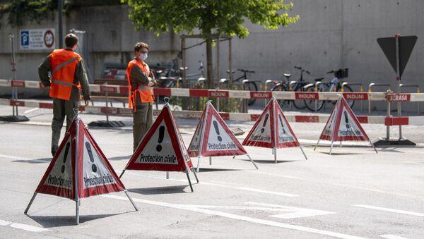 Blokiranje pristupa Vili La Granž u Ženevi, gde će se održati sastanak predsednika Rusije i SAD, Vladimira Putina i Džozefa Bajdena - Sputnik Srbija