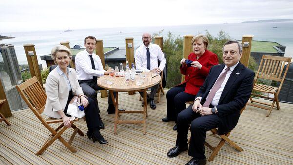 Koordinacioni sastanak evropskih lidera pred samit G7 u Londonu - Sputnik Srbija