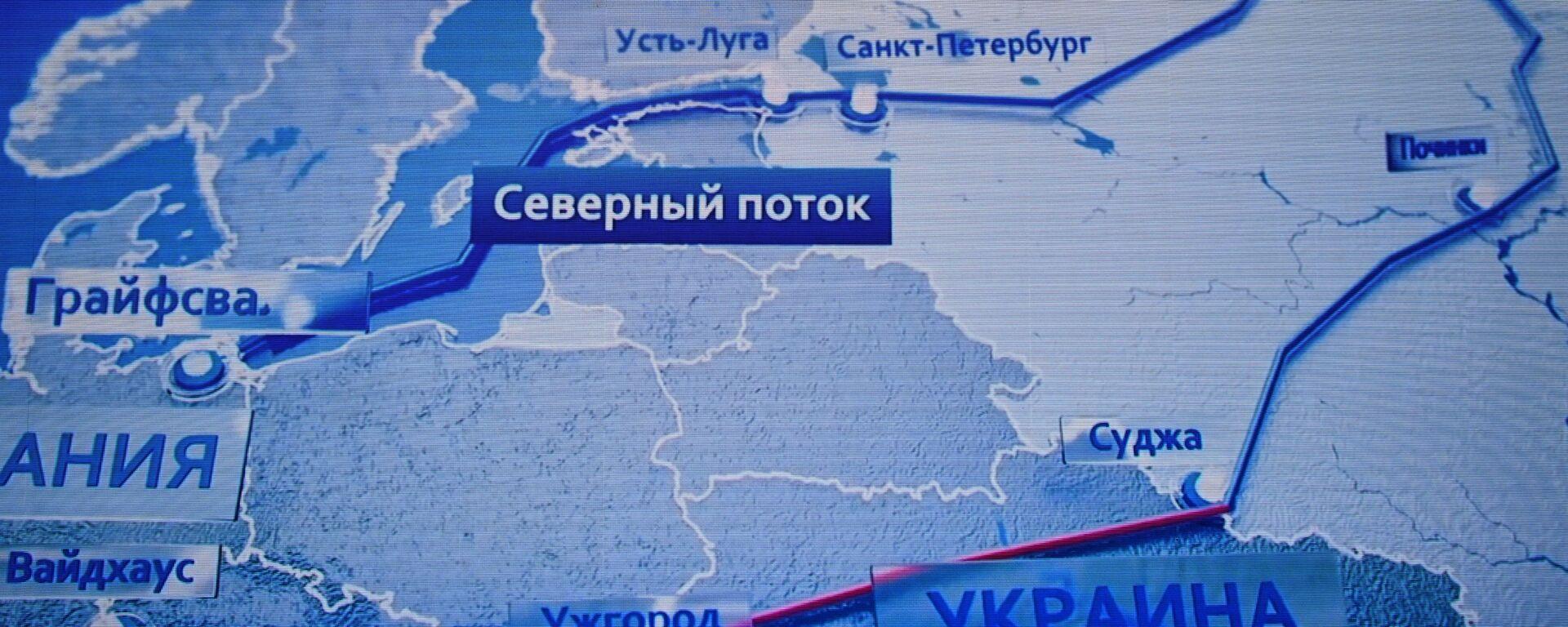 Мапа руских магистралних гасовода - Sputnik Србија, 1920, 21.07.2021