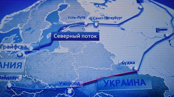 Mapa ruskih magistralnih gasovoda - Sputnik Srbija