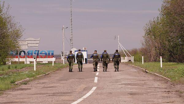Pripadnici predstavništva LNR u Zajedničkom centru za kontrolu i koordinaciju prekida vatre u Donbasu - Sputnik Srbija