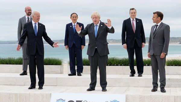 Учесници самита Г7 у Великој Британији - Sputnik Србија