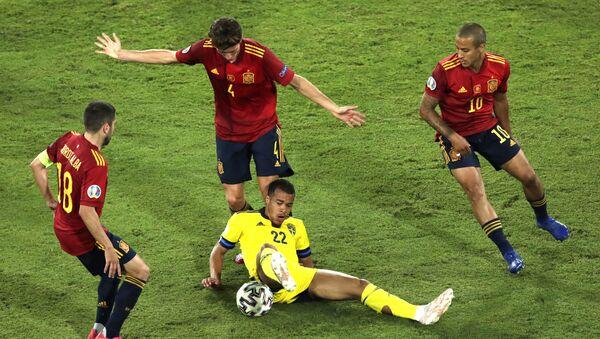 Detalj sa utakmice Španija – Švedska - Sputnik Srbija