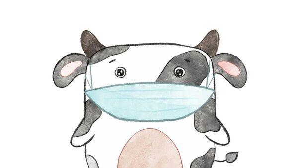 Крава са маском - Sputnik Србија
