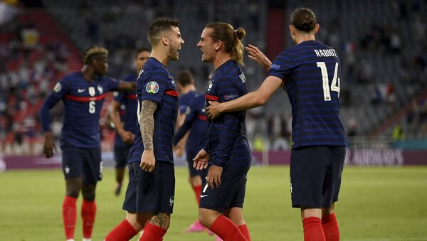 Фудбалери Француске славе гол на мечу против Немачке – ЕУРО - Sputnik Србија