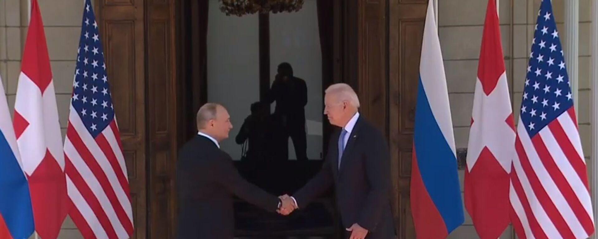 Владимир Путин и Џо Бајден у Женеви - Sputnik Србија, 1920, 16.06.2021