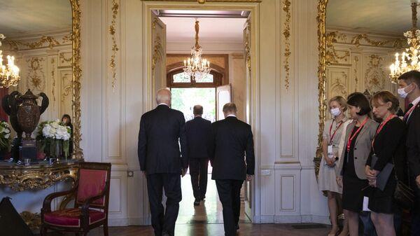 Vladimir Putin i Džo Bajden - Sputnik Srbija