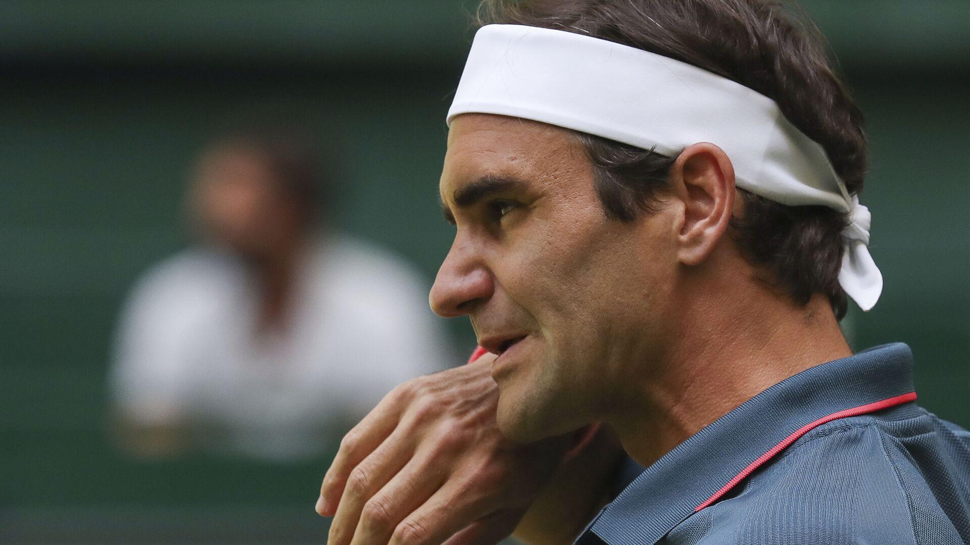 Роџер Федерер током турнира у Халеу - Sputnik Србија, 1920, 17.06.2021