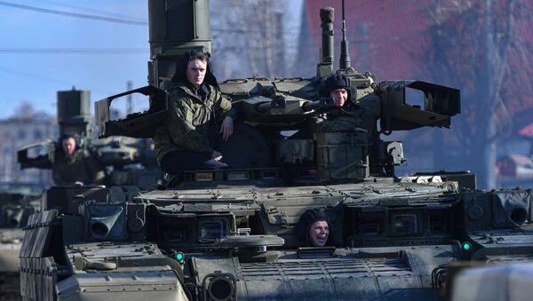 """Rusko borbeno vozilo za podršku tenkovima """"Terminator"""" - Sputnik Srbija"""