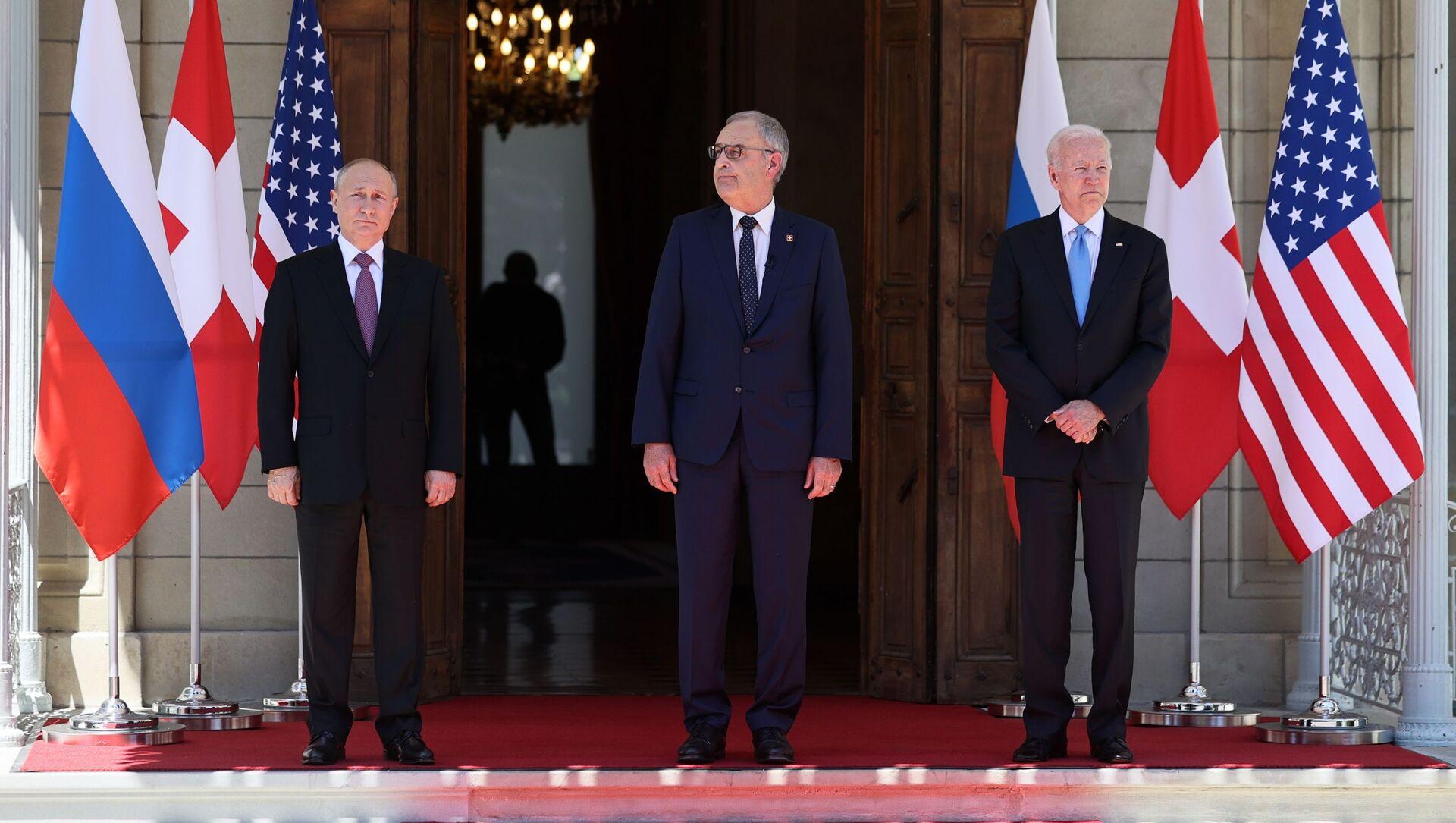 Председници Русије, Швајцарске и САД - Sputnik Србија, 1920, 19.06.2021