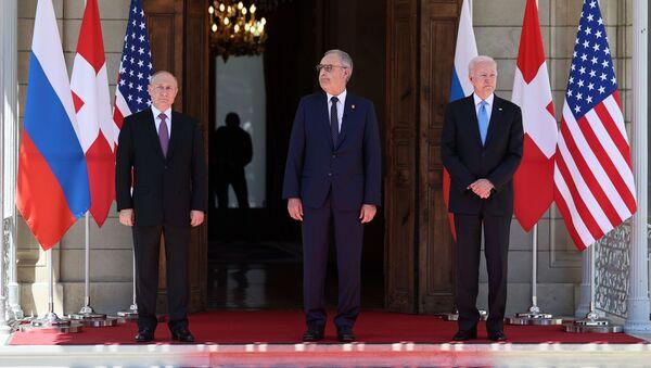 Predsednici Rusije, Švajcarske i SAD - Sputnik Srbija