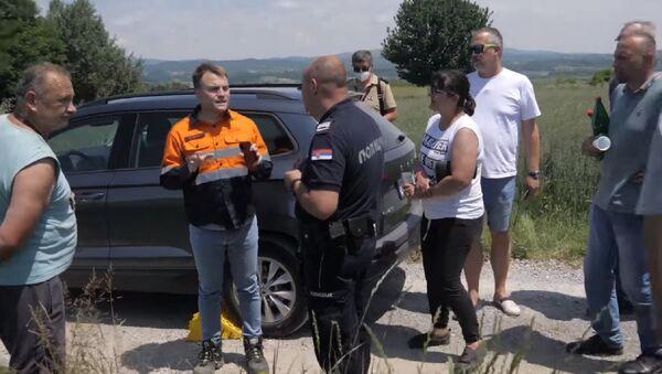 Meštani Jadra blokirali put predstavnicima kompanije Rio Tinto - Sputnik Srbija