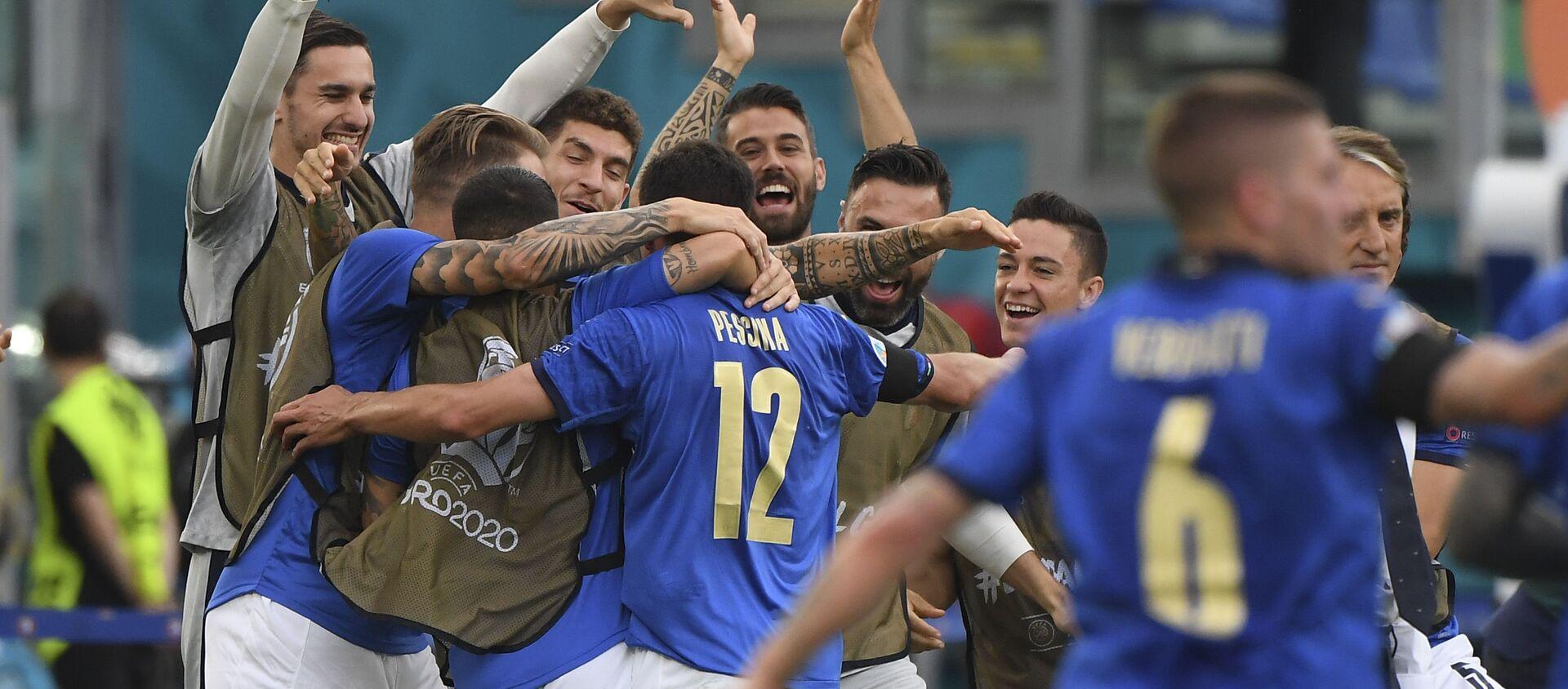 Fudbaleri Italije slave gol – EURO 2020 - Sputnik Srbija, 1920