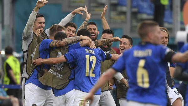 Fudbaleri Italije slave gol – EURO 2020 - Sputnik Srbija